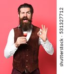 handsome bearded man with long... | Shutterstock . vector #531327712