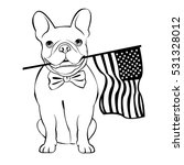 bulldog  dog  animal  french ... | Shutterstock .eps vector #531328012