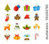 set of various christmas and...   Shutterstock .eps vector #531332782