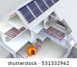 alternative heated house with... | Shutterstock . vector #531332962