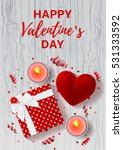 happy valentine's day greeting... | Shutterstock .eps vector #531333592
