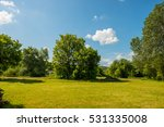 clouds and forest landscape in... | Shutterstock . vector #531335008