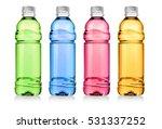 red drink in plastic bottle on... | Shutterstock . vector #531337252