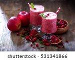 fresh blended cranberry... | Shutterstock . vector #531341866