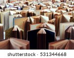 many old books in a row | Shutterstock . vector #531344668