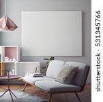 mock up poster with vintage... | Shutterstock . vector #531345766