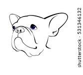 bulldog  dog  animal  french ... | Shutterstock .eps vector #531346132