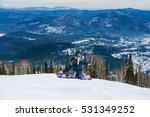 snowboarder jumping on a... | Shutterstock . vector #531349252