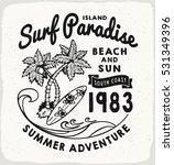 Surf Paradise Print In Black...