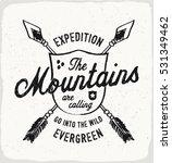 mountain evergreen print in... | Shutterstock .eps vector #531349462