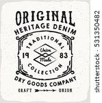 original heritage denim print... | Shutterstock .eps vector #531350482