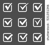 checkmark pictograms   vector... | Shutterstock .eps vector #531351346