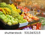 assortment of fresh fruits at... | Shutterstock . vector #531365215