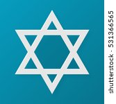 star of david. judaism symbol.... | Shutterstock . vector #531366565