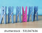 colorful wooden clothespin  ... | Shutterstock . vector #531367636
