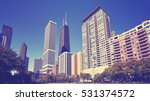 vintage toned photo of chicago... | Shutterstock . vector #531374572