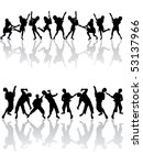 happy people silhouettes  ... | Shutterstock .eps vector #53137966