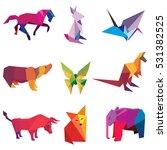 vector illustration of origami... | Shutterstock .eps vector #531382525