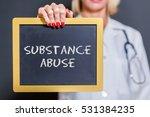 substance abuse chalkboard sign ... | Shutterstock . vector #531384235
