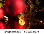 red christmas balls | Shutterstock . vector #531385075