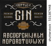 "handcrafted ""gin"" font with... 
