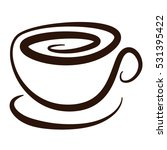 cup of coffee | Shutterstock .eps vector #531395422