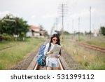 beautiful asia woman traveler... | Shutterstock . vector #531399112