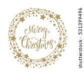 merry christmas text for card... | Shutterstock .eps vector #531399496