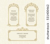 vector set frames  for design... | Shutterstock .eps vector #531400462