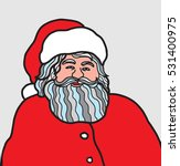 vector santa claus portrait | Shutterstock .eps vector #531400975