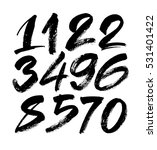 vector set of calligraphic... | Shutterstock .eps vector #531401422