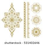 mandala set. mehendi elements.... | Shutterstock .eps vector #531402646