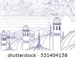 abstract view of a mosque | Shutterstock . vector #531404158