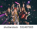 Stock photo group of friends at club having fun new year s party 531407305