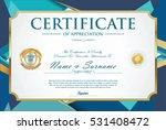 certificate retro design... | Shutterstock .eps vector #531408472