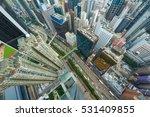 skyscrapers  buildings  road in ... | Shutterstock . vector #531409855