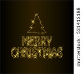 merry christmas gold glitter.... | Shutterstock .eps vector #531413188