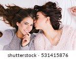 up selfie portrait of two... | Shutterstock . vector #531415876