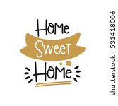 vector poster with phrase decor ... | Shutterstock .eps vector #531418006