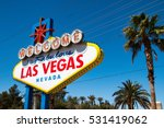 the welcome to fabulous las... | Shutterstock . vector #531419062