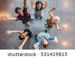 top view of young students... | Shutterstock . vector #531419815