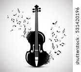 violin with notes. music... | Shutterstock .eps vector #531420196