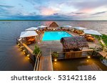 swimming pool floating in the... | Shutterstock . vector #531421186
