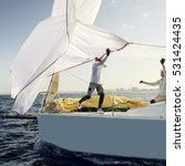 sailing yacht race. yachting.... | Shutterstock . vector #531424435
