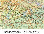 geographic map of north... | Shutterstock . vector #531425212