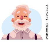 grey haired old man face ...   Shutterstock .eps vector #531426616