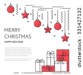 christmas and new year banner... | Shutterstock .eps vector #531427132