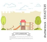 city landscape with playground...   Shutterstock .eps vector #531427135