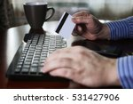 e commerce a man pays for...   Shutterstock . vector #531427906