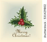 merry christmas vintage old... | Shutterstock .eps vector #531429802